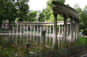 Parc Monceau in Paris, where I ran.
