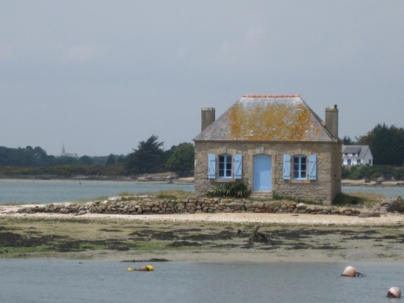 St. Cado, one of the most photographed homes, because the tide isolates it