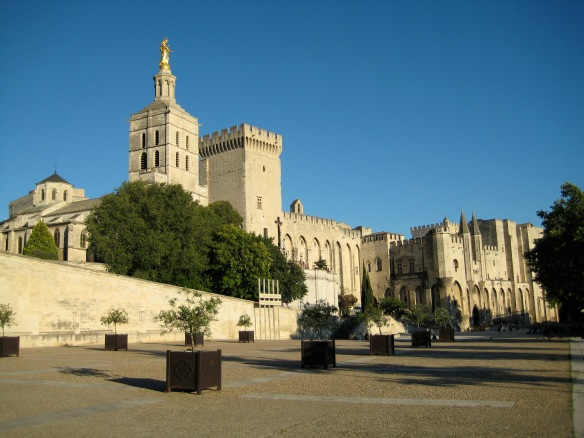 Le Palais des Papes - The Popes' Palace, temporary home of the Popes during the 14th century