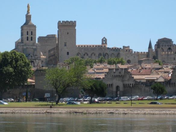 View of Avignon from across the Rhône