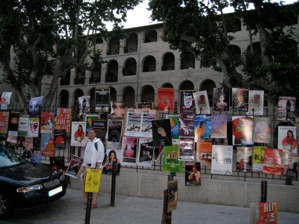 Advertisements for the upcoming theater festival