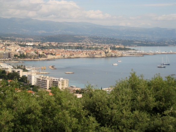 Looking over Antibes from the cape