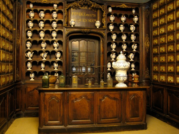 Old style pharmacy inside the Palais