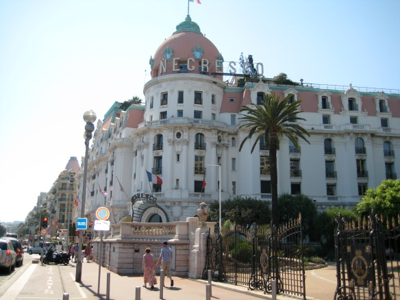 Hotel Negresco. Olga the angel lived just up the street from here.