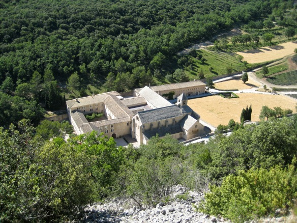 Abbaye de Sénanque, from the road above