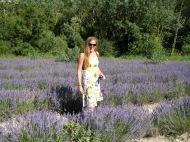 Me in a lavender field