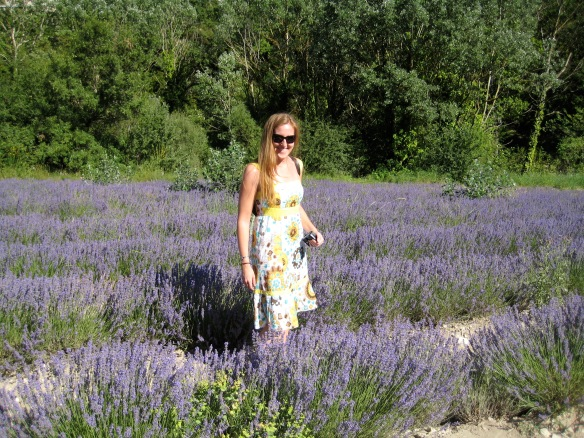 Me in a lavender field