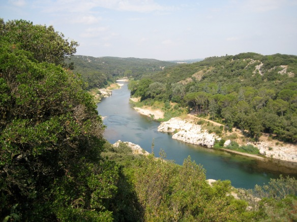 The Rhone at the Pont du Gard