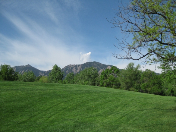 View of the Flatirons from Boulder