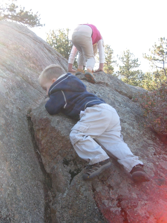 Rock climbing kiddos