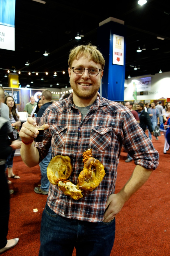 Next year we need pretzel necklaces, like this guy!